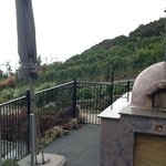 pizza oven on one of the outside decks