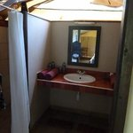                    washroom in the tent