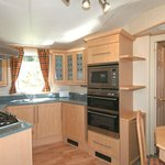 Holiday Caravan kitchen.