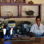 Verna tending Bar