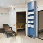 Relax in our sauna and steam bath