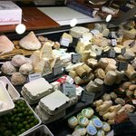 Wide assortment of cheeses