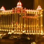View of Galaxy macau at night from our room