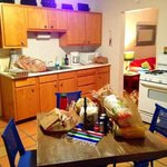 The Evelyn Fite Suite Kitchen (sorry about our groceries on the table!)