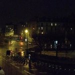                    Nighttime snow falling in Paris
