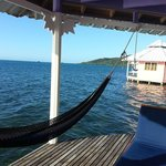 The little porch on our cabana, complete with hammock!