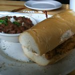  Catfish PoBoy w/Red Beans and Rice