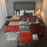                    Our room {after some serious souk shopping!} :)
