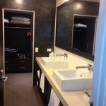 wow loved the bathroom his & here basins