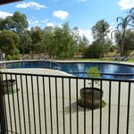 Large pool - not solar heated. Salt chlorinated. Great!!