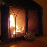  real warm wood fireplace