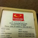Part of ABVI was Econolodge (the 100 building. - room #s starting with 1) and phone pads not cha
