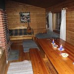 inside the overnight cabin