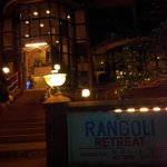 Rangoli retreat at night