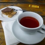 my caramel slice and herbal tea
