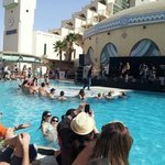                    A concert at the pool