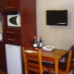                    Kitchenette with a small dining table
