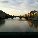                                      vue depuis le Ponte Vecchio