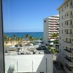 view from Room 702 towards Plaza Ventana del Mar / La Concha beach