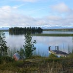                    view of Nimpo Lake from cabin