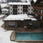                    The open air pool from Room 326