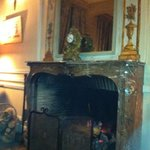  fireplace in common area lounge