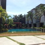                    The pool area