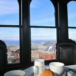 Coffee & croissants in the cupola!