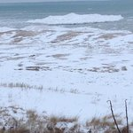 Close to the Indiana Dunes (Shelf ice picture)