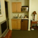 Our small kitchen area in room 23