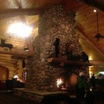 fireplace at the inn
