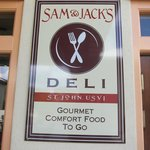 Entrance to Sam & Jack's Deli
