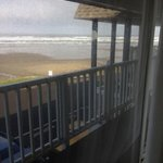                    view from &quot;oceanfront&quot; rm behind walkway on 2nd fl and parking lot
