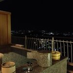 Night view from outdoor private bath