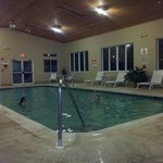 nice size indoor pool, water was warm, roo was a little chilly