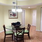 Dining area in Oceana Palms 2 bedrooms unit.
