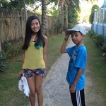 my kids at dangkalan resort