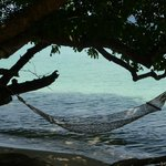 The hammock in front of the bungalow