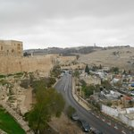                    View from the Ramparts of the Walls of Jerusalem looking toward the Mount of O