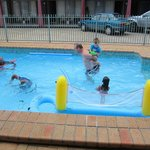                    December 2012 in the playing with the kids in the pool