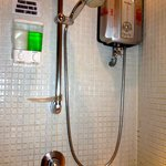                    water heater in shower