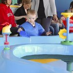 The water table will keep kids occupied for a long time