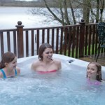  Hot tub with each lodge