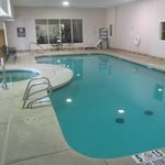 In door pool/hot tub. The fitness center is on the other side of the large win