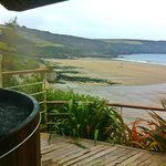 Hot Tub at The Nare Hotel overlooking Carne Beach