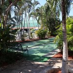 shuffle board by the pool in front of our room