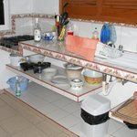                    the kitchen counter/dishes/etc