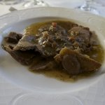 Excellent Veal dish with fresh local mushrooms and sauce