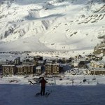 View of village of Cervinia from the window of the dining room