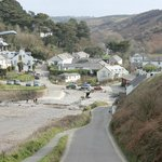                    View of Port Gaverne from the hill towards Port Isaac